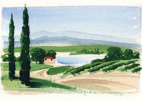 Pyrenees – watercolour tutorial