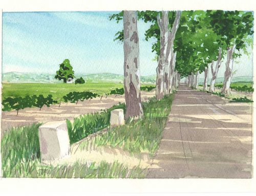 Road to Neffies – watercolour tutorial