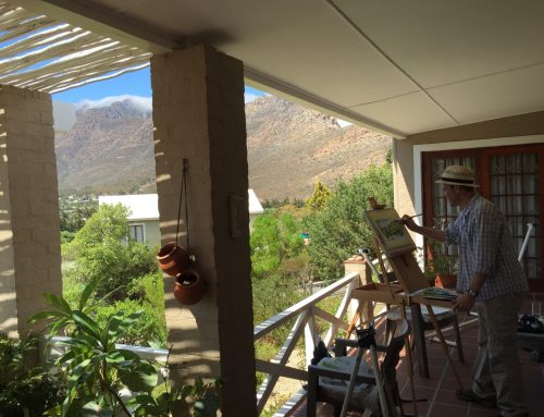 South Africa – Painting en plein air. Nearly.