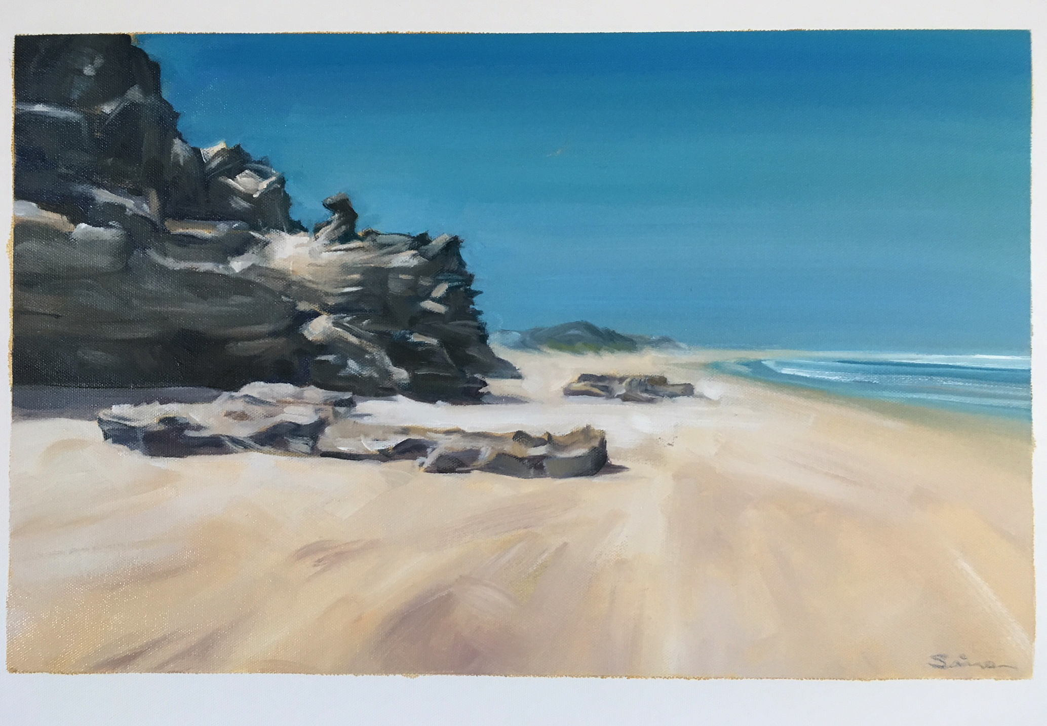 beach sedgefield - Simon Roberts - painting in France