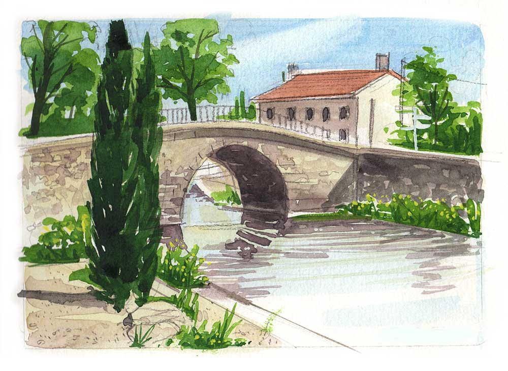 watercolour Painting vacation in the South of France