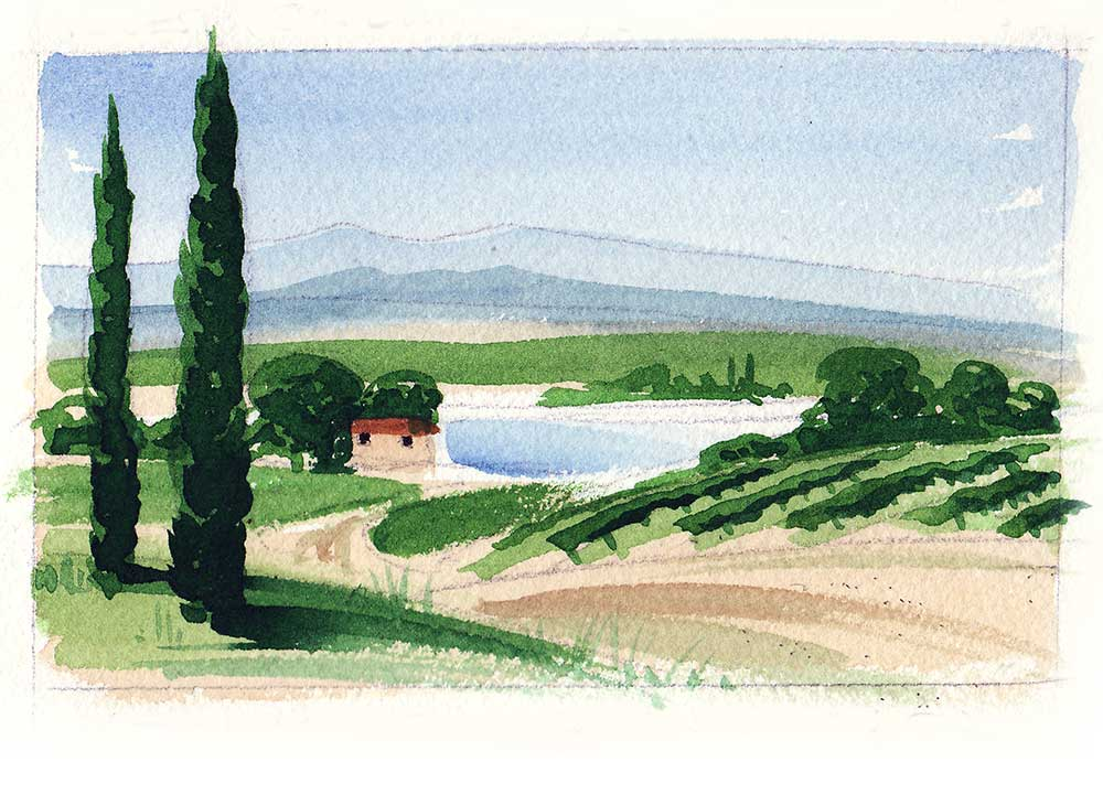 Painting vacation in the South of France