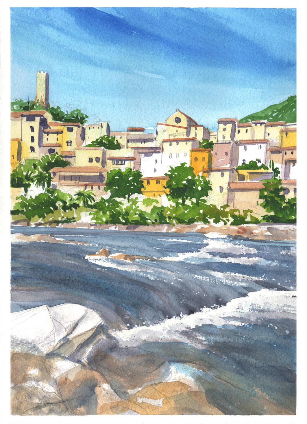 roquebrun simon roberts painting in france