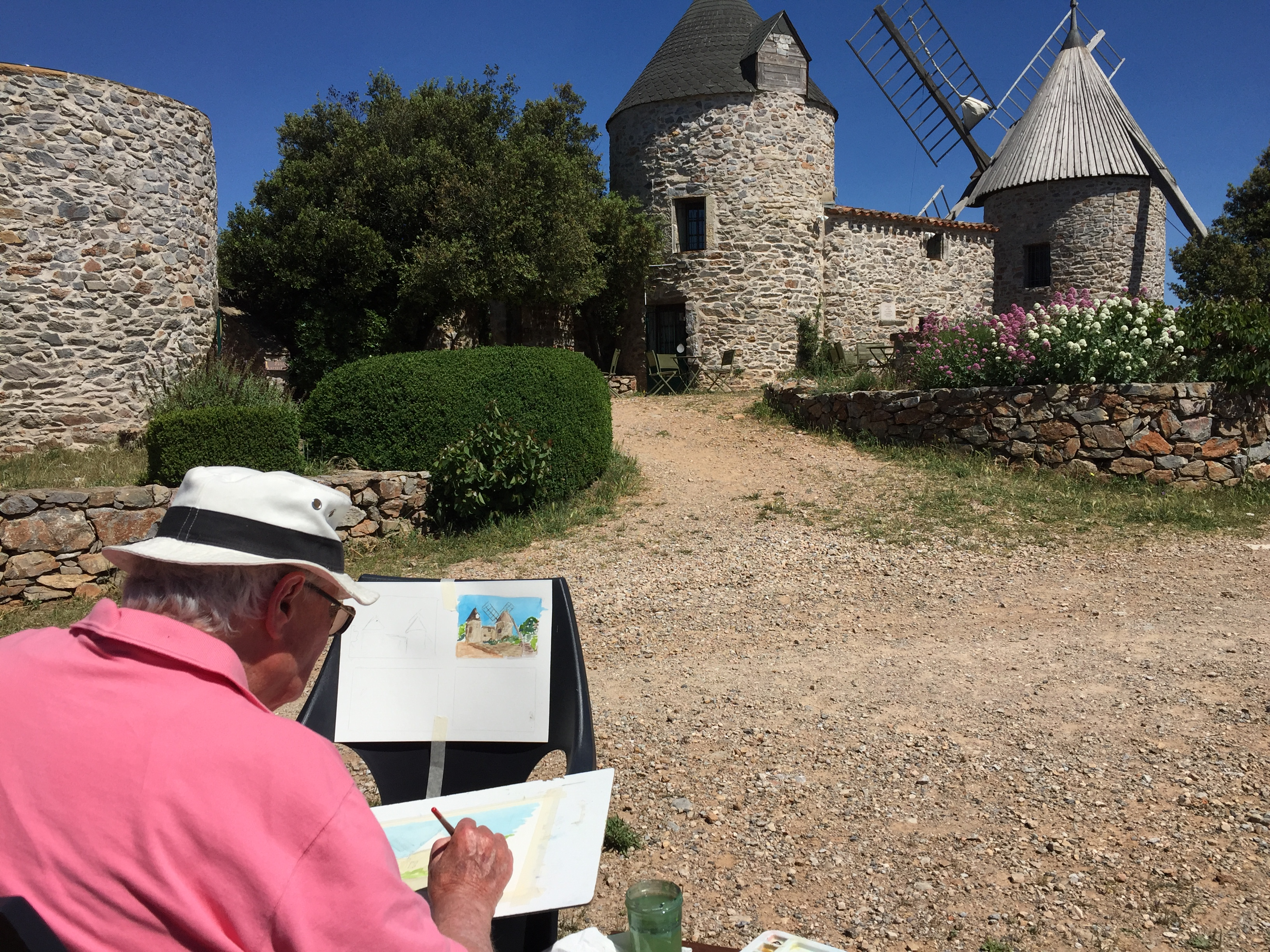 faugeres mill painting holiday france