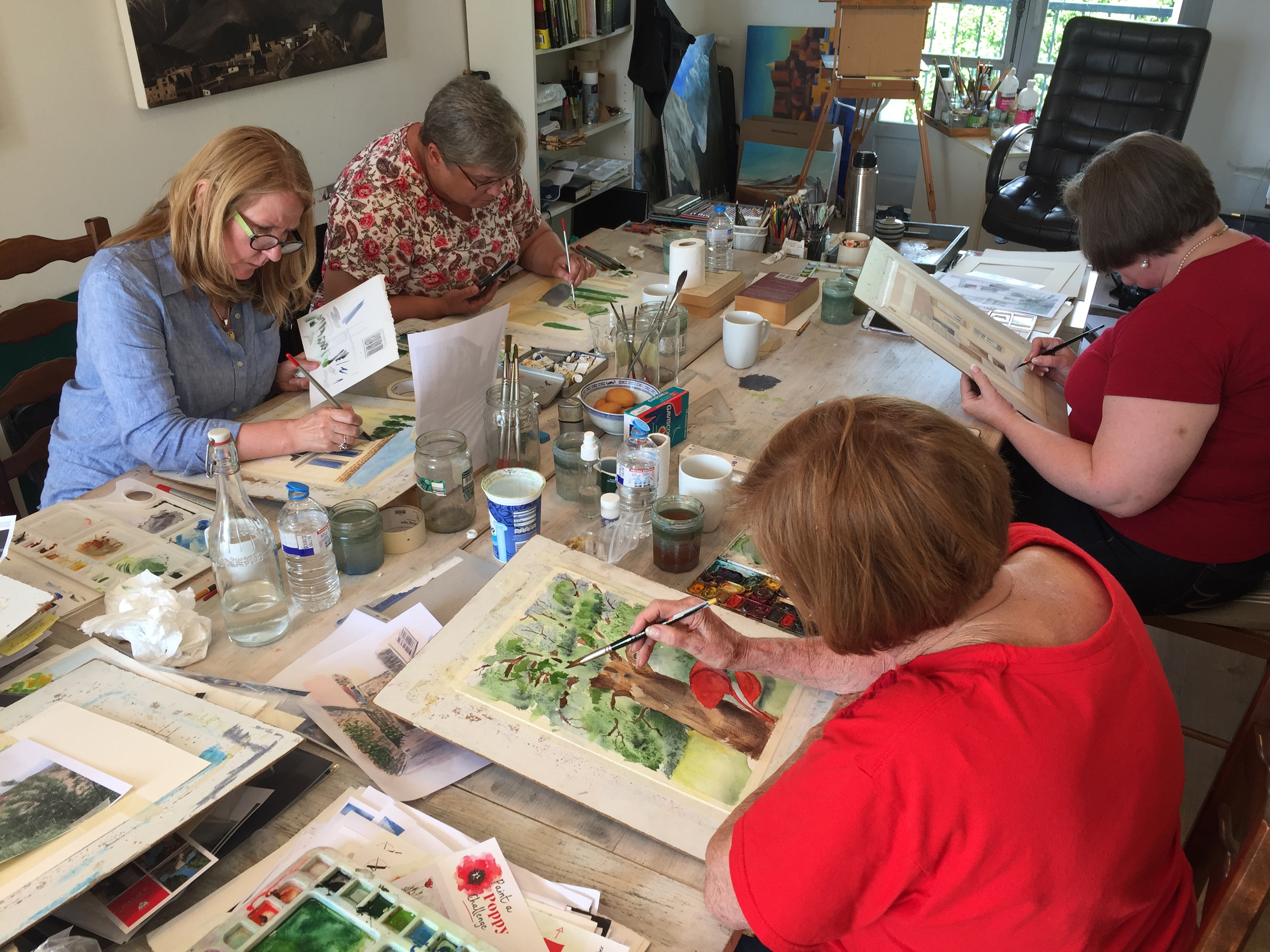 studio painting holiday france
