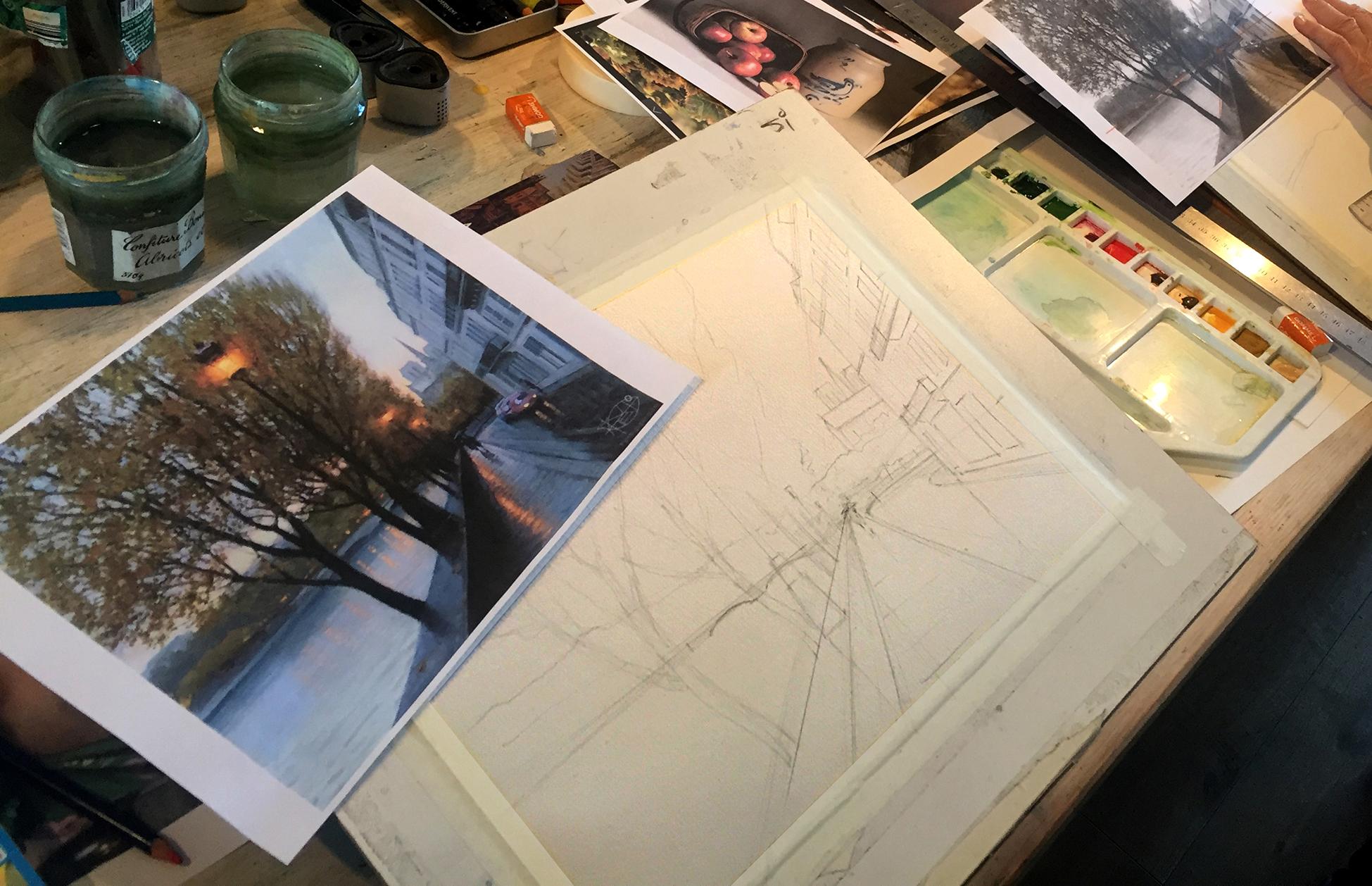 Autumn in Paris: a step by step watercolour tutorial