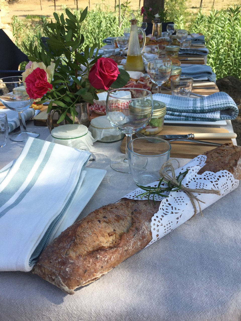 chic picnic painting holiday in france