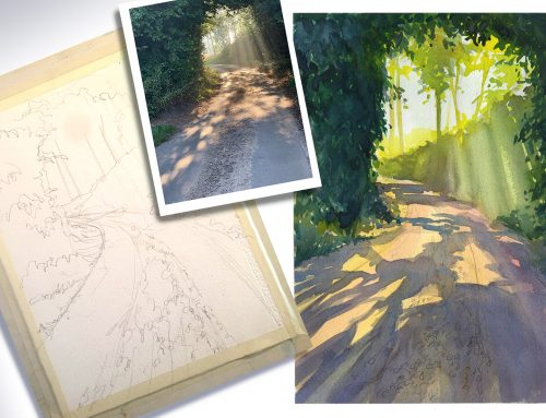 Artist's Photo – a step by step watercolour tutorial