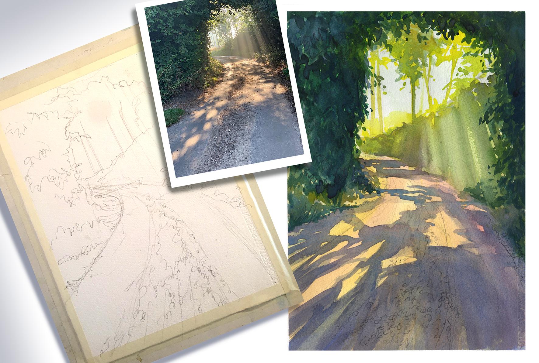 Artist's Photo – a step by step watercolour tutorial