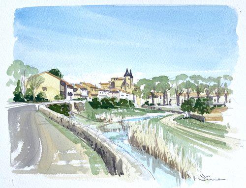 How to Paint..The village of Pouzolles – en plein air.